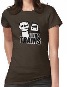 ASDF T-Shirt I Like Trains  Womens Fitted T-Shirt