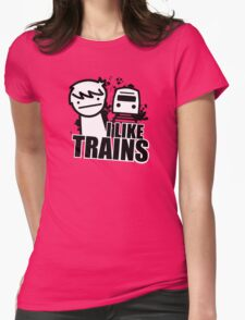 ASDF T-Shirt I Like Trains  Womens T-Shirt