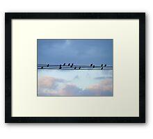 High Wire Birds Framed Print