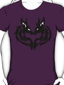 Tribal Wolves Couple T-Shirt