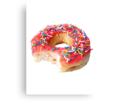 Strawberry Frosted Donut Canvas Print