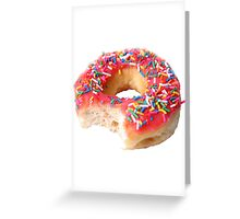 Strawberry Frosted Donut Greeting Card