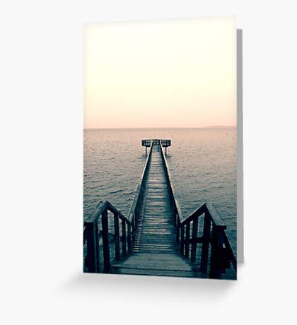 Split Toned Bridge Greeting Card