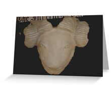 rams head Greeting Card