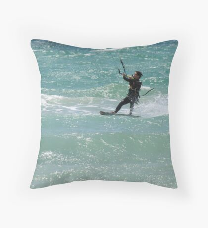 Kite Surfer Throw Pillow