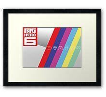 Big Hero Six Icons Framed Print