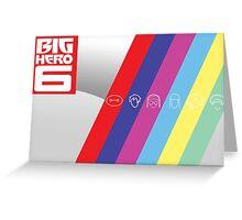 Big Hero Six Icons Greeting Card