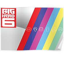 Big Hero Six Icons Poster