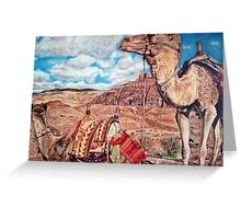 Camels at Petra Greeting Card