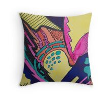 Geo Abstract Drawing Throw Pillow