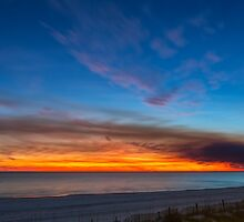 Sunset over the Gulf of Mexico by Greg Riegler