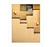 Building Wall Abstract Art Print
