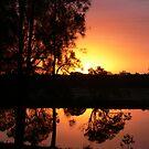 Suset reflection on the Dawson!!! by Heabar