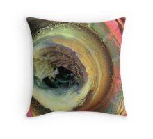 Tye-Dyed Hubcap Throw Pillow