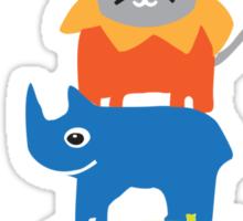 colored animals Sticker