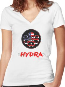 Hydra Takeover Women's Fitted V-Neck T-Shirt