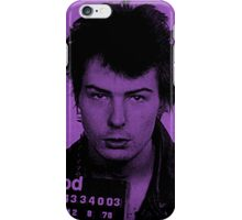 Sid Vicious Mugshot  iPhone Case/Skin