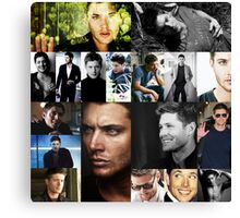Jensen Ackles Favorite Photos Collage Canvas Print