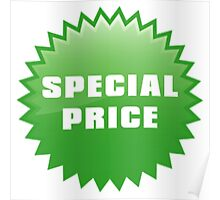 Green Special Price Poster