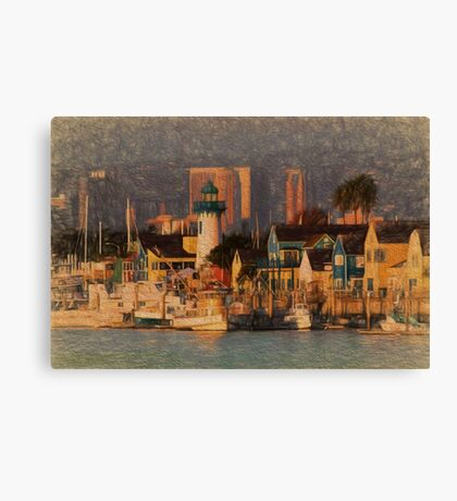 California Harbor Canvas Print