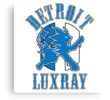 Detroit Luxray (Detroit Lions Parody) Canvas Print