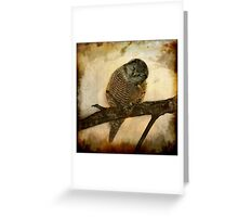 Whispered in the sounds of silence Greeting Card