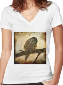 Whispered in the sounds of silence Women's Fitted V-Neck T-Shirt