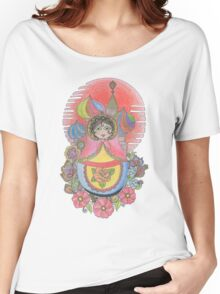 Russian Nesting Doll Illustration Women's Relaxed Fit T-Shirt