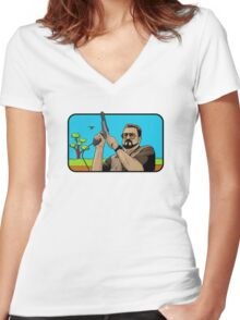 Duck hunting on Shabbos (Digital Duesday #1) Women's Fitted V-Neck T-Shirt