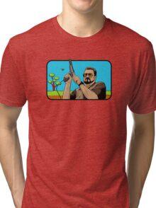Duck hunting on Shabbos (Digital Duesday #1) Tri-blend T-Shirt