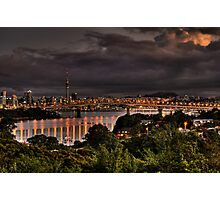 Auckland City  Sunset Photographic Print