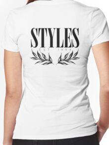 raconteur - white Women's Fitted V-Neck T-Shirt