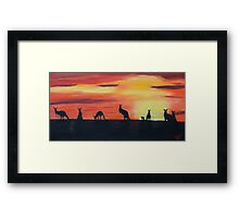Roos on the horizon Framed Print