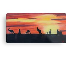 Roos on the horizon Metal Print
