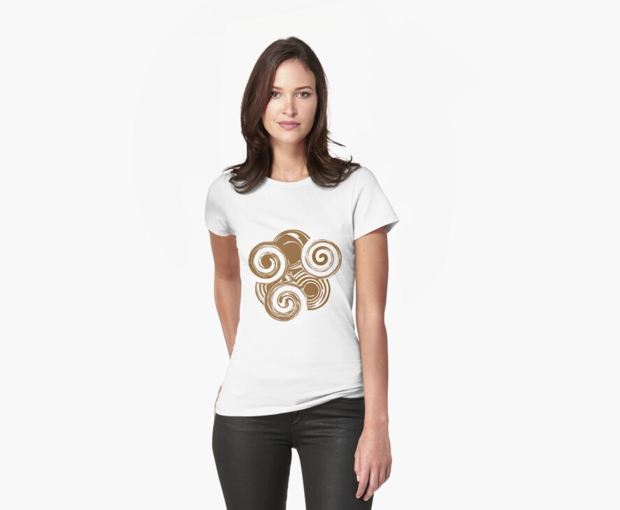 Brown Retro Swirls by Nia Brown