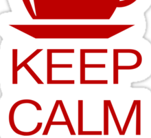 Keep Calm and Drink Coffee Sticker