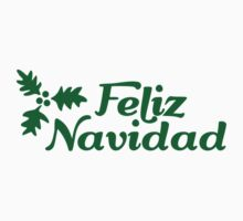 Feliz Navidad holly Kids Clothes
