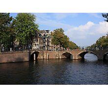Amsterdam Stone Arch Bridge Photographic Print