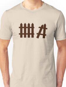 Broken fence Unisex T-Shirt
