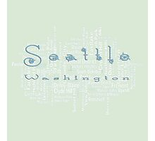 Seattle Washington Neighborhoods Photographic Print