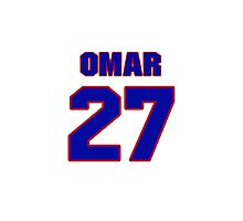 National baseball player Omar Olivares jersey 27 Photographic Print