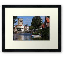 Tranquil Village Scene Framed Print