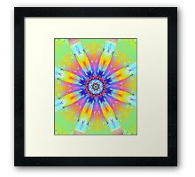 Summer mood, fractal abstract design Framed Print
