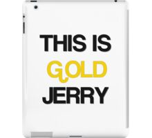 Gold Jerry Seinfeld Quotes Tv Show iPad Case/Skin