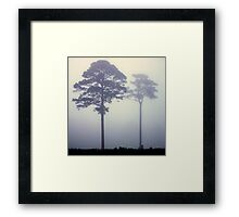 Foggy Pasture Giants Framed Print