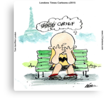 Charlie Hebdo: Grief  Canvas Print