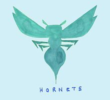 HORNETS  HAND-DRAWING DESIGN by nbatextile