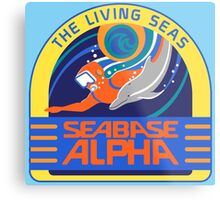 Seabase Alpha The Living Seas Metal Print