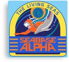 Seabase Alpha The Living Seas Canvas Print