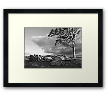 One Sunday B&W Framed Print